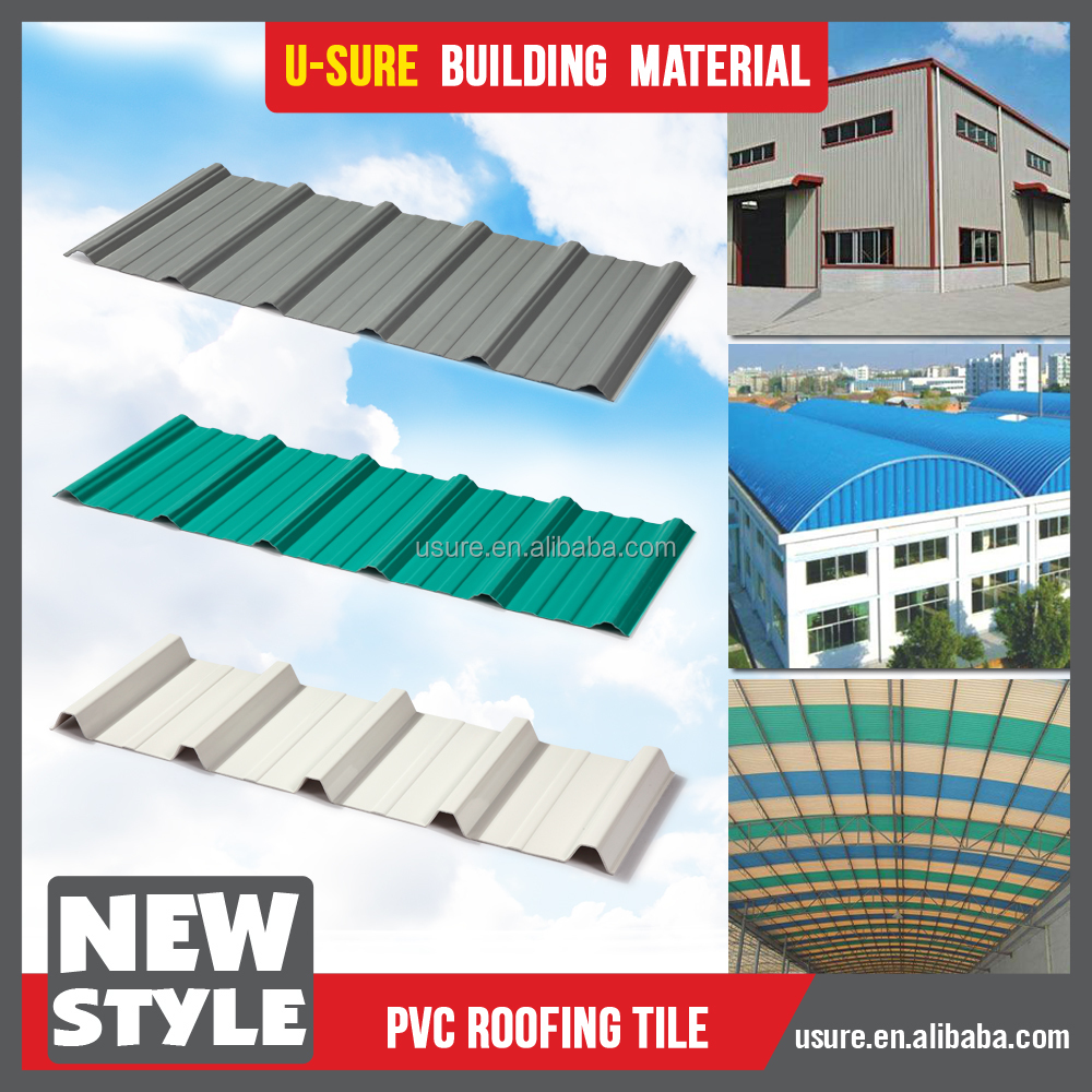 ecological wavy construction material roof tile