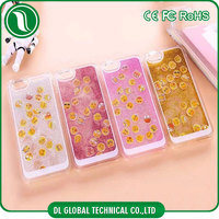 Super Funny Quicksand Moving Floating Sparkle glitter Emoji Pattern Hard Liquid Case Cover For Iphone 5