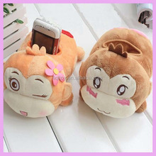 Cute stuffed soft plush monkey cell phone holder cell phone cases