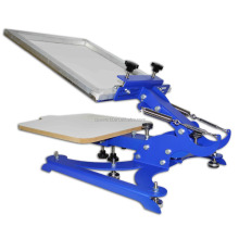 High precision desktop single color t-shirt rotary digital silk screen printing machine
