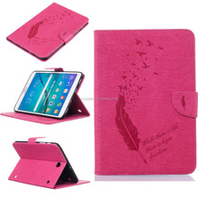 Embossed Butterfly Tablet Cover For Samsung Galaxy Tab S2 9.7 inch T815 Pu Leather Stand Flip Case