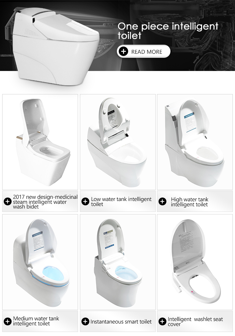 intelligent toilet pots with S-Trap Drainage Pattern With Automatic flush