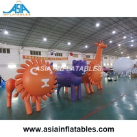 Custom Giant Parade Float Characters Helium Balloon / Inflatable Animals with LED Light