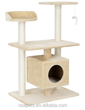 Natural Sisal Cat Scratching Post Tree/Cat House