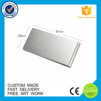 High quality blank design wallet silver custom metal money clip
