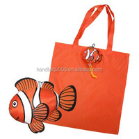 Candy fish 190T polyester Folding shopping tote bag,store bag,Supermarket gift bag