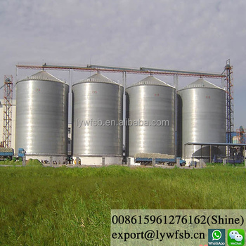 Top quality Hot-galvanized feed Silo for feed pellet plants(whatsapp:008615961276162)