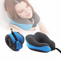 U shaped pain rest massage sponge foam neck pillow for car airplane nursing