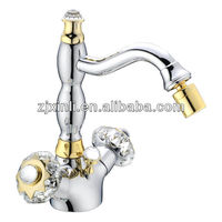 High Quality Dual Handle Brass Bidet Tap, Polish and Chrome Finish X9506D1