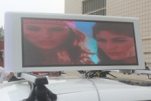 top sales electronical mobile vehicle led top display / mobile led display car for outdoor advertising