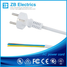 european Power extension cables female power cord ends White VDE power plug