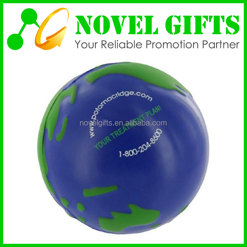 Promotion Gifts Earth Shape PU Stress Reliever Ball