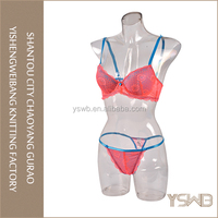 Wholesale oem comfortable eco woman stylish bra and panty set