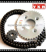 motorcycle sprocket gearing,Motorcycle chain sprocket kit for Yamaha ,Motorcycle roller chain and sprocket sets