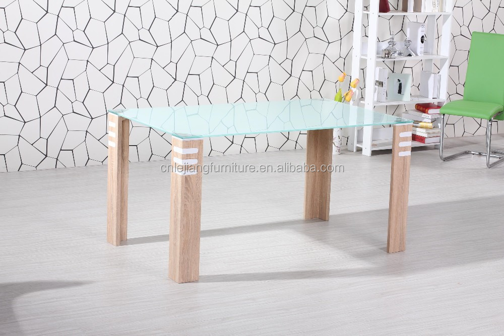 new design black high light wood dining table