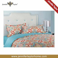 egyptian cotton fabric sheet set/painting designs bed sheets