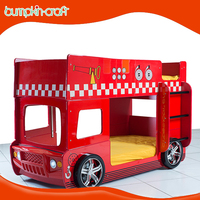 High quality Kids Furniture Funky Truck Bunk Car Bed with Desk
