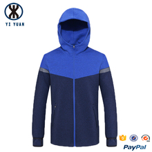 Customized sport color blocking hooded new design men track suit