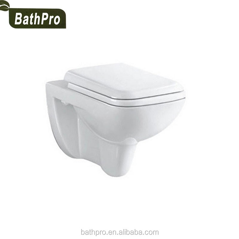 Good Pice Ceramic Material P-trap One Piece Structure Wall Hung Toilet