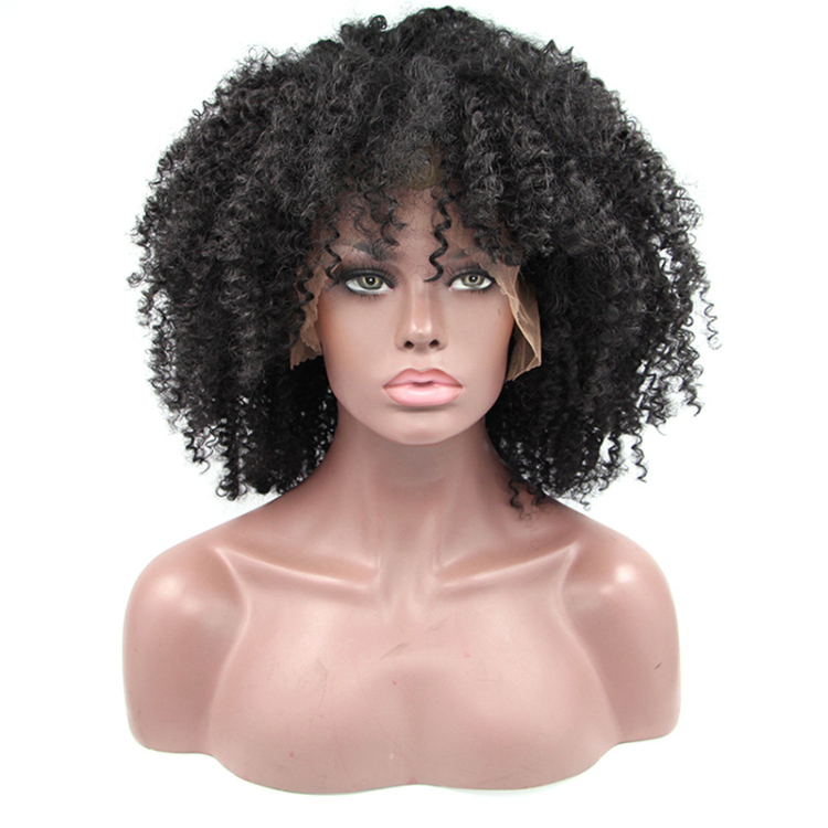 China manufacturer curly lace front wig baby hair straight