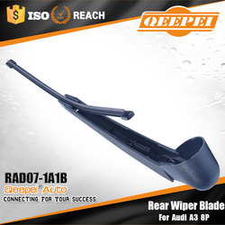 Factory wholesale special rear soft wiper arm& blade with natual ruber fit for Audi A3 8P