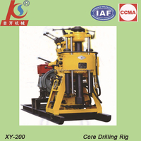 XY-130 water well 200m Electric motor or diesel engine drilling rig