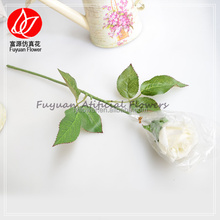 150820 factory direct sale cheap best sell artificial white real touch rose single stem
