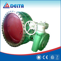 High Pressure Double Flanged Type Electric Metal Sealing Gas Butterfly Metallurgical Valve