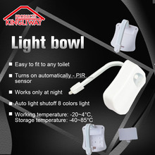 and Intelligent Motion Sensor Activated Toilet Bowl Night Light