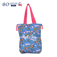 Dongguan Canvas Factory Outlet BSCI Full Printing Promotional Tote Drawstring Shopping Bag