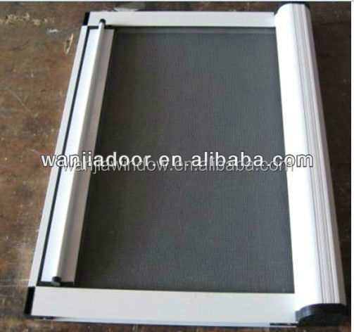Nice and easy to operate roll up fly screen for aluminum for Roll up window screen