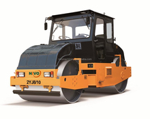 New Road Machinery 8 Ton Tandem Static Road Roller With Dual Seats And Steering Wheel
