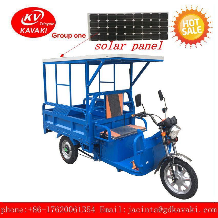 2017 Hybrid Gasoline /Electric Motor Kits Electric Tricycle Adults With Solar Panels