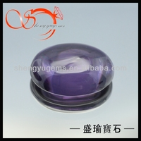 loose oval shape large violet cabochon cz(CZOV0002-12x16mm)