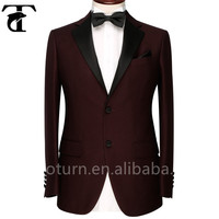 New style Plain wine color coat pant men suit china wholesaler