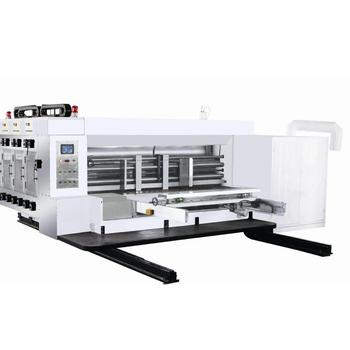 High Speed automatic Flexo printing Slotter Rotary Die Cutter five colour Electric printing machine