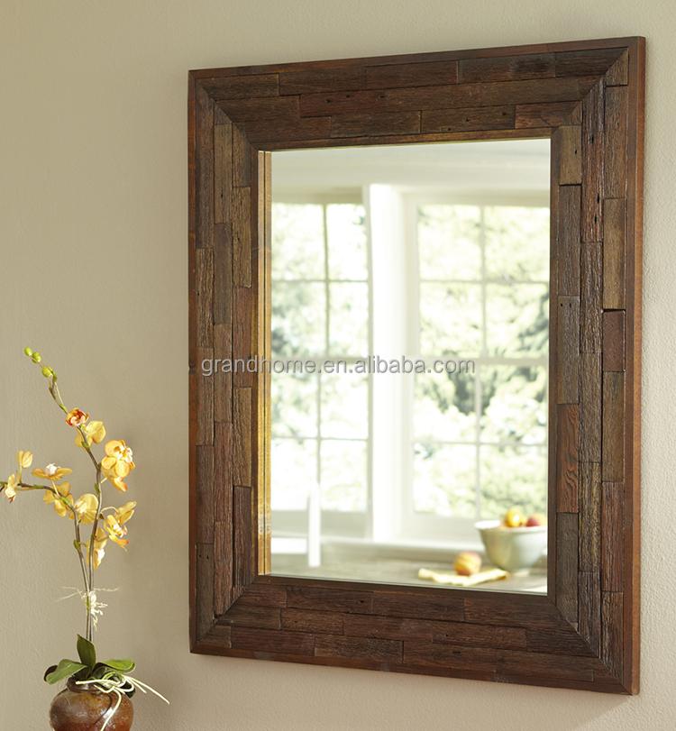 De haute qualit mur de la maison d corative cadre en bois for Application miroir pc