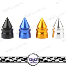 guangzhou car racing 23mm colored spiked universal aluminum tire valve stems caps