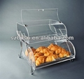2 tiers acrylic bakery case bakery box Acrylic bakery container;