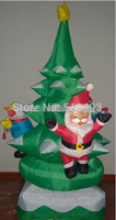 180cm Led Light Inflatable Tree with santa claus and penguin Christmas Decor