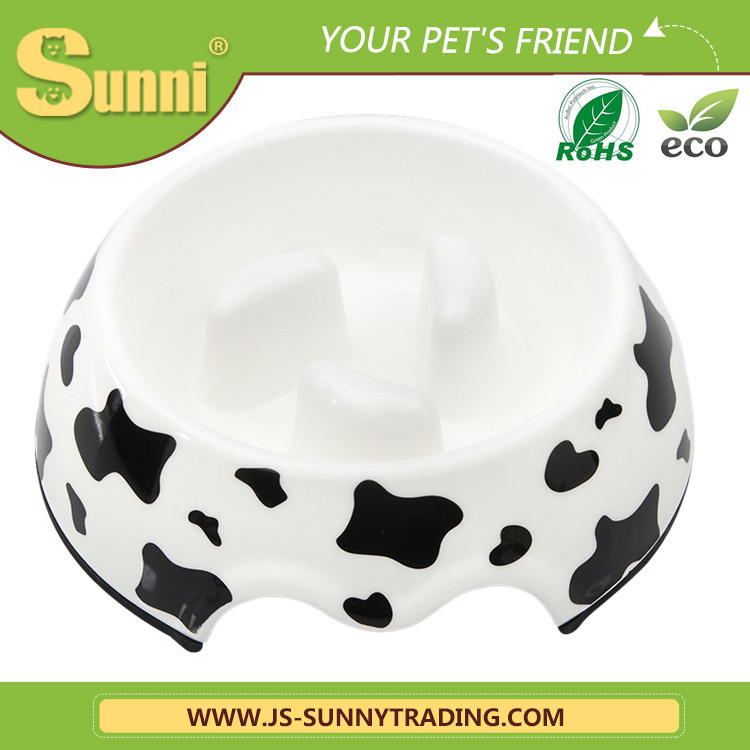 Fancy melamine dog travel bowl