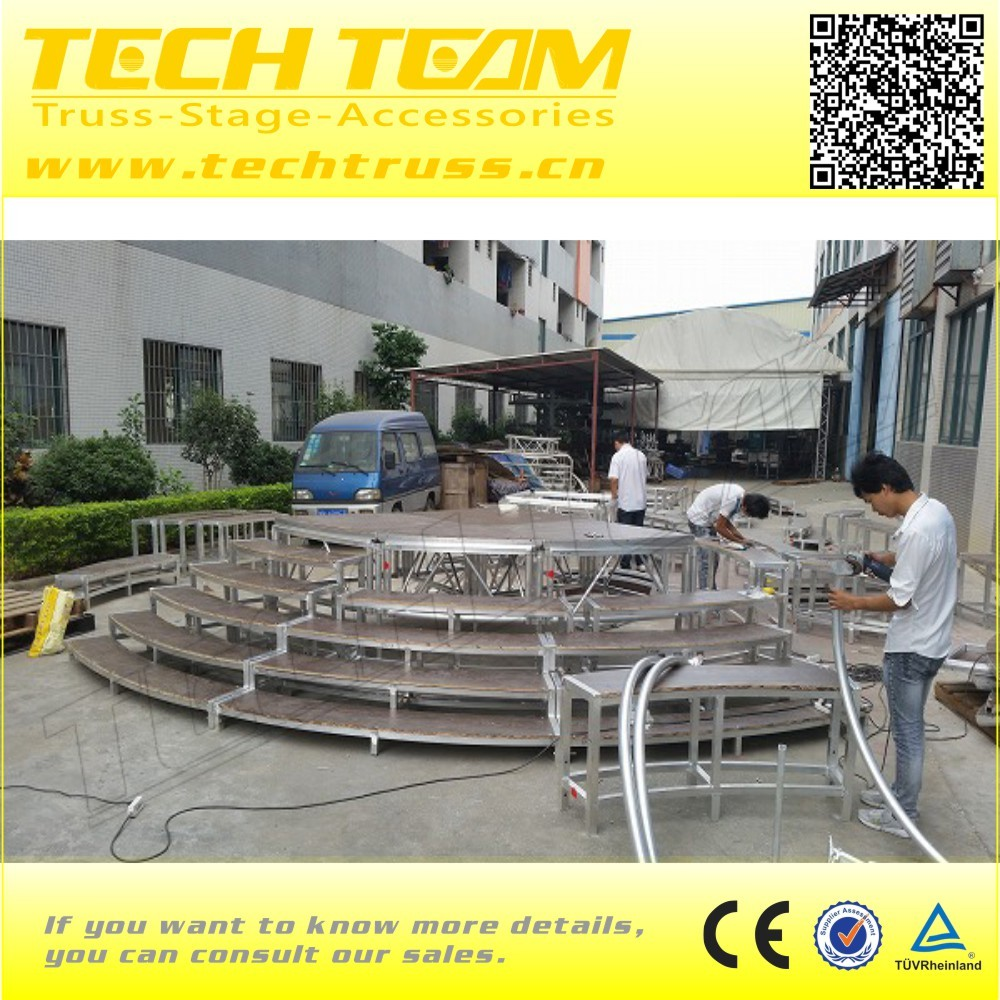 Low price ecvent selling porable cheap aluminum circle acrylic stage