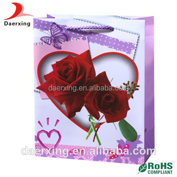 top sales fancy design promotional cosmetic paper bag