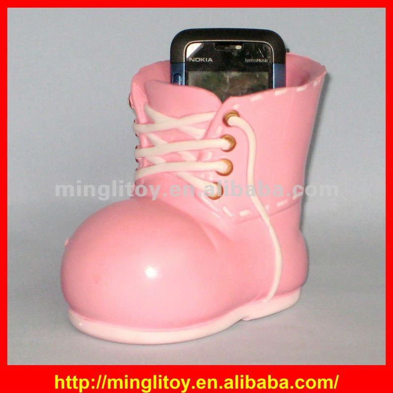 2012 Hot-selling Pink Shoe-shaped Promotional PU Phone Holder