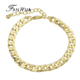 Rock Style Hot Selling Fashion New Snap Jewelry Wholesale Gold Color Chain Link Bracelets & Bangles Bijouterie Gifts