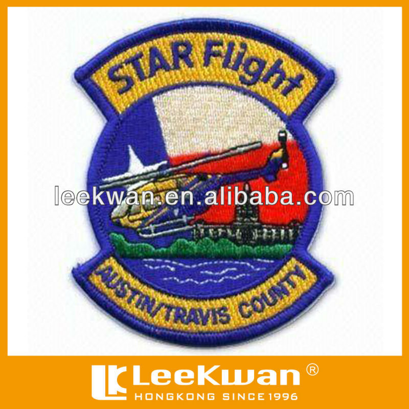 star flight helicopter logo embroidery patch