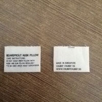 100% custom printed wash cotton care label