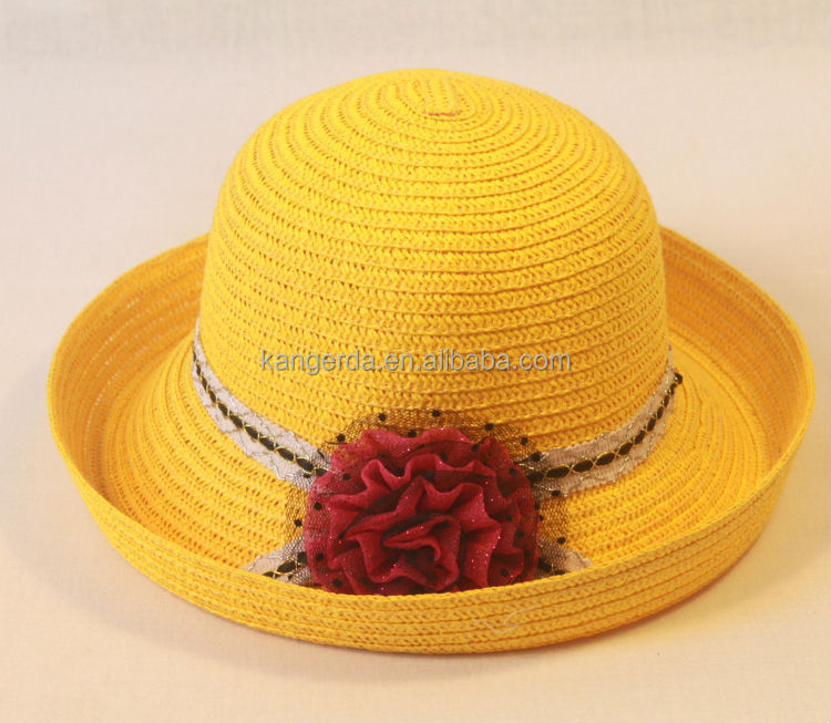Fancy Floppy Straw Sun Protection Hats for Girls