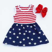 Wholesale Girls Festival Frock Designs Girls Dress For 4th Of July