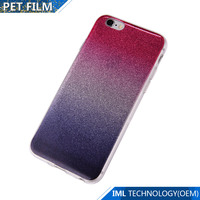 IML flashing powder TPU phone case for Iphone6/6s/6plus